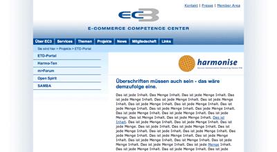 ec3 website redesign