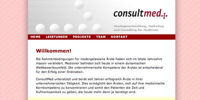 xhtml umsetzung consultmed screenshot