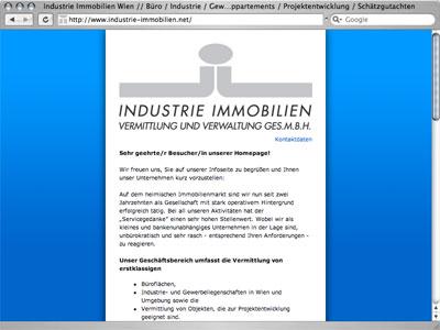 industrie immobilien wien - infoseite