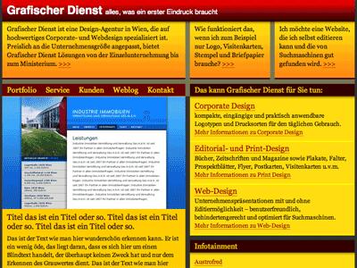 Grafischer Dienst XHTML CSS Template free gratis