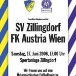 zillingdorf gegen austria plakat