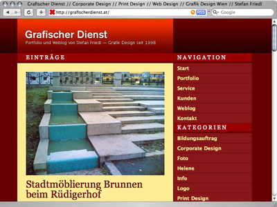 800 x 600 - redesign grafischer dienst website
