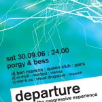 departure flyer design