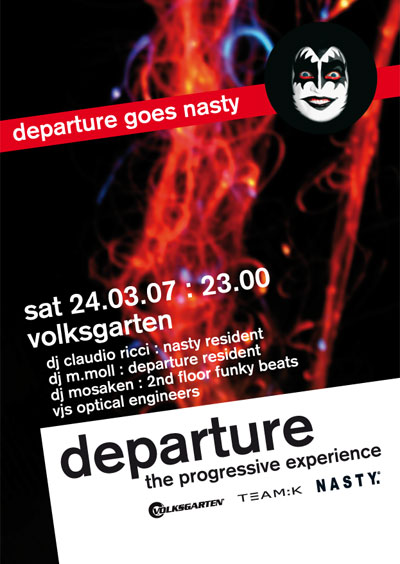 departure 18 flyer design