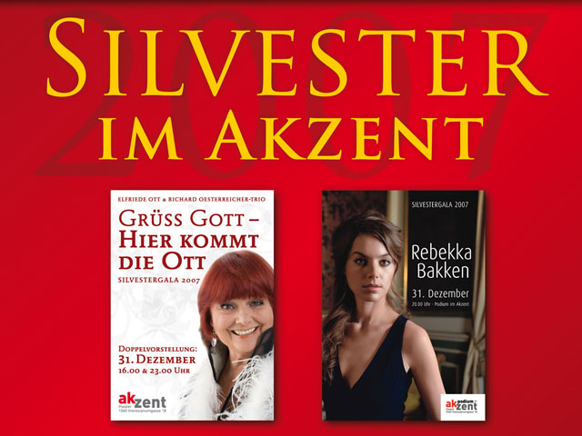 Plakate Ott & Bakken - Aufsteller Theater Akzent