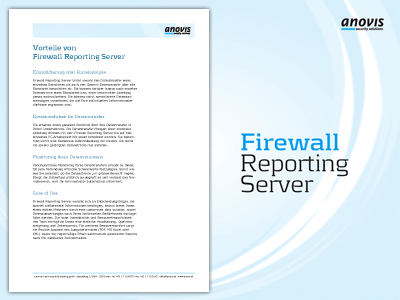 anovis firewall reportin server mappe