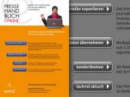 manz pressehandbuch online inserat