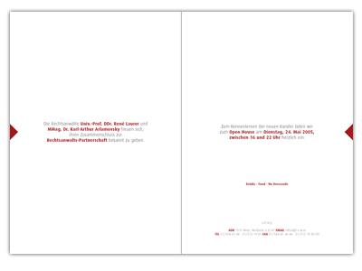 Laurer & Arlamovsky Einladung Open House