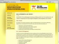 plattform für berufsbezogene weiterbildung website